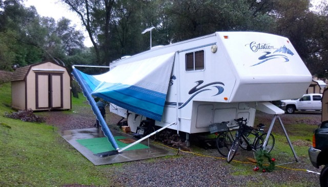 Often a roll of RV awning tape will do the trick! Most hardware pieces are easily replaceable as is the fabric and we able to repair or replace it for you! & Awnings! |